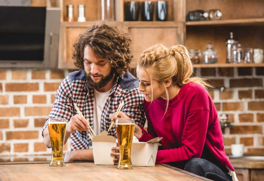drinking beer together? why not?