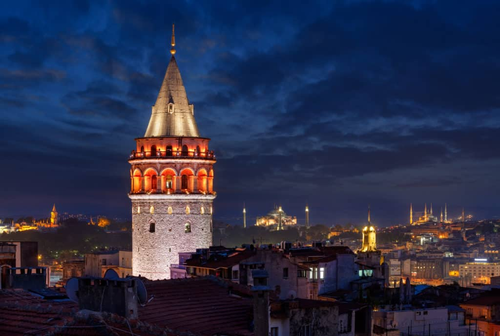 enjoy the istanbul view from galata tower