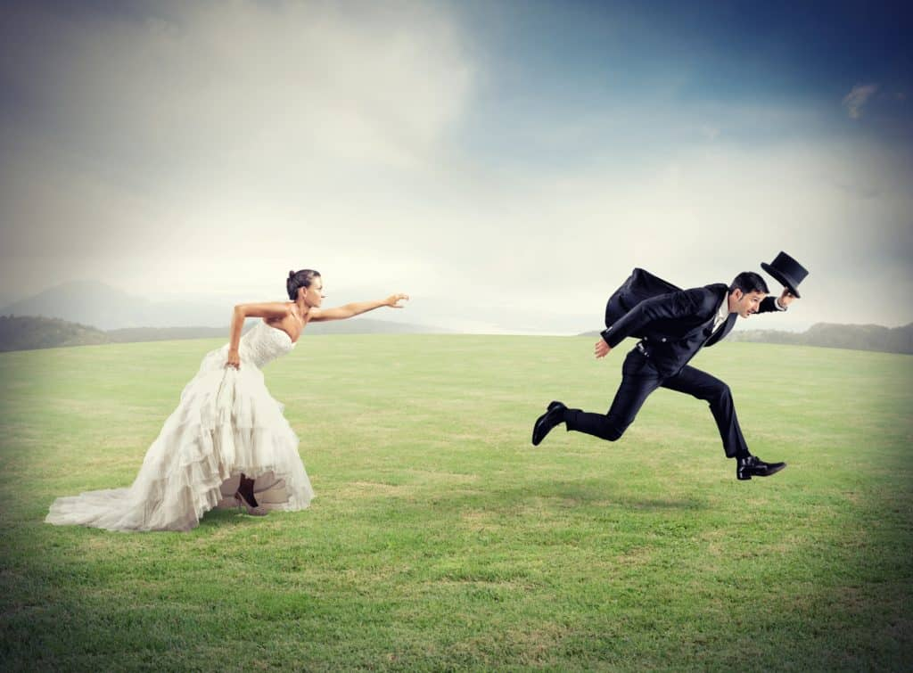the wedding goals are not for him
