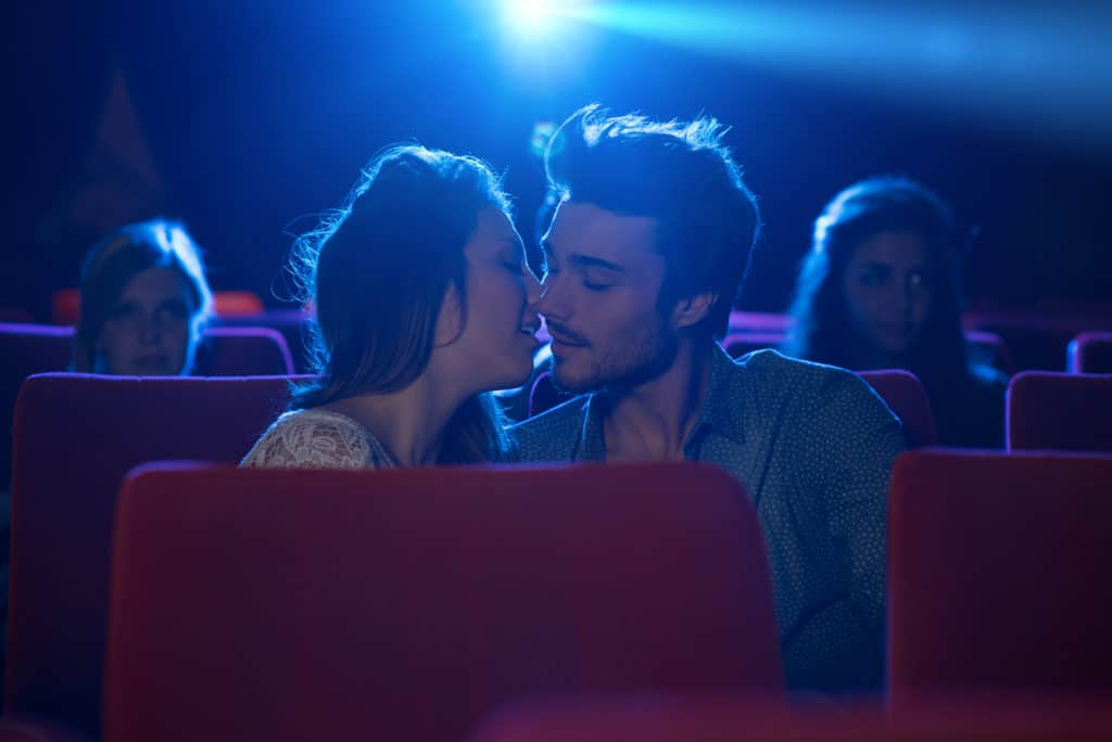 what should you do if he kisses you at the movies