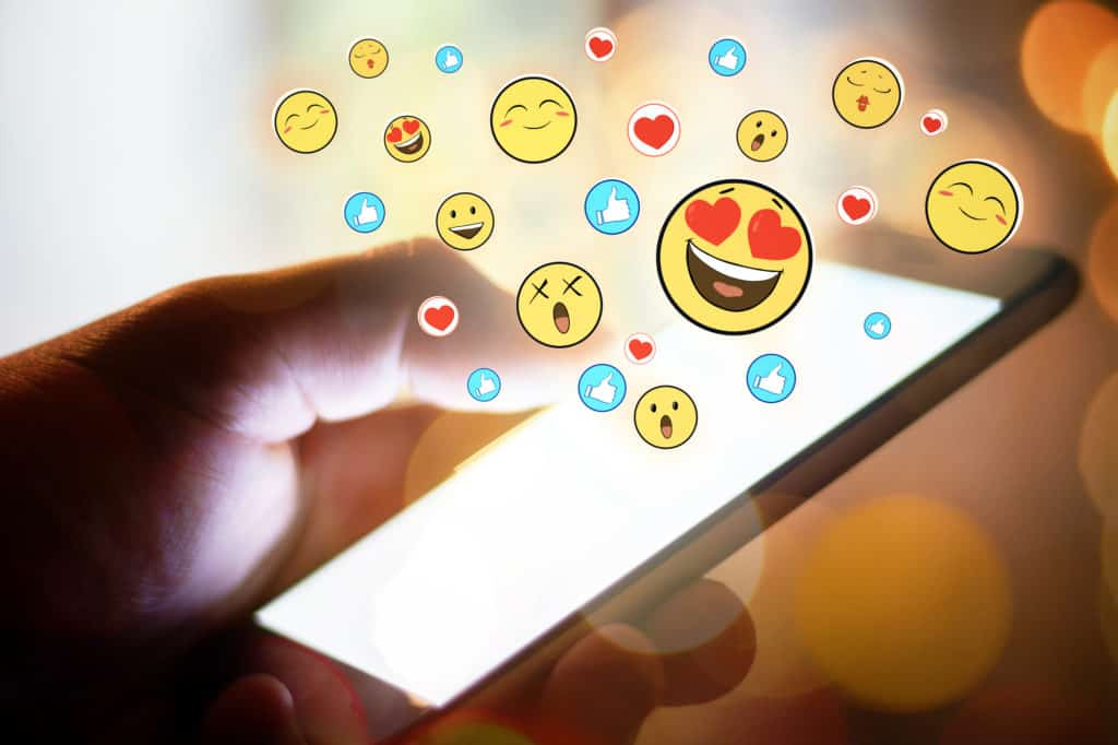 Get playful with her by using lots of emoticons, gifs, memes or stickers